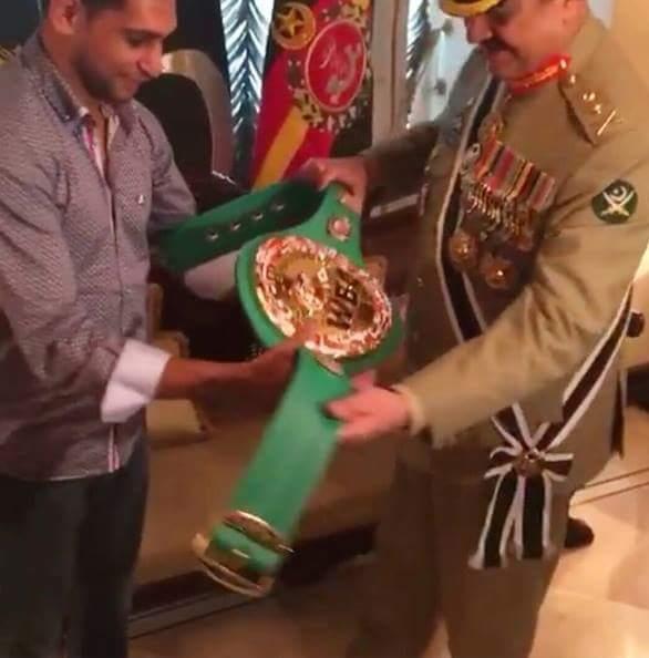 amir khan with army Chief