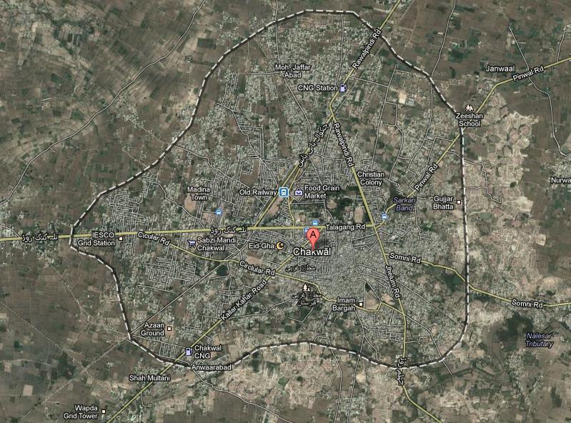 Satellite-Map-Chakwal-City