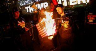 Trump flag-burning
