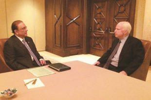 Zardari meets John McCain