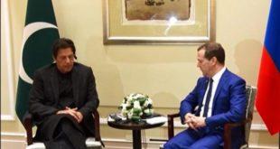 Imran Khan meets Russian counterpart