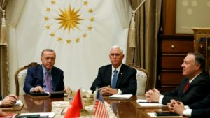 Mike Pence and Tayyip Erdogan