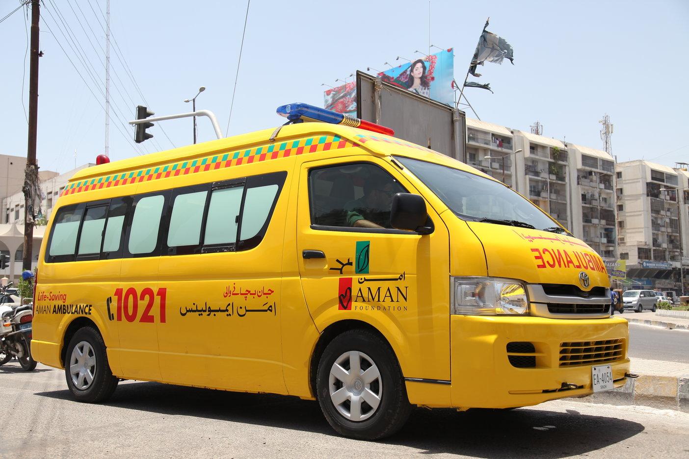 ambulances of Aman Health Care