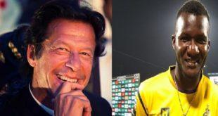 Darren Sammy meets with Imran Khan