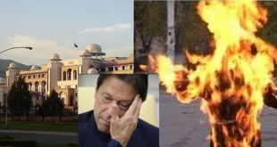 Man burnt himself in front of PM Imran Khan office