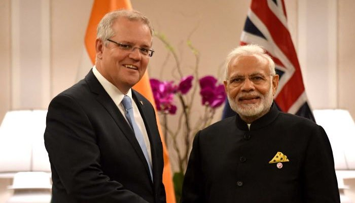 India and Australia sign agreement to use each other's military bases