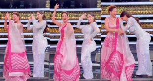 Madhuri Dixit Dancing With Nora Fatehi On Mera Piya Ghar Aaya